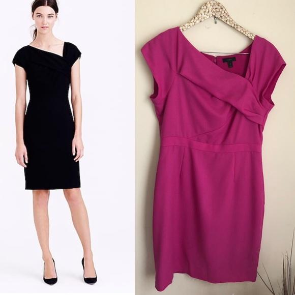 c7fc3191 J. Crew Dresses   J Crew Origami Sheath Dress In Wool Pink Size 10 ...